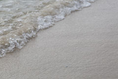 Zooming of beach. Sand and water wave for background Stock Image