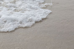 Zooming of beach. Sand and water wave for background Stock Images