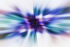 Zooming Blurs. An illustrated background of a zooming effect in various blue shades Stock Illustration