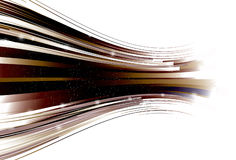 Zooming Curved retro line background Royalty Free Stock Image