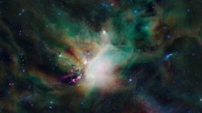 Zooming into a nebula Stock Images