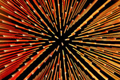 Zooming points of light abstract. Zooming orange and red points of light abstract Royalty Free Stock Photos
