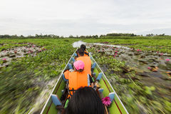 Zooming through Thale Noi Royalty Free Stock Photography