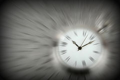 Zooming on time. Conceptual image Stock Photography