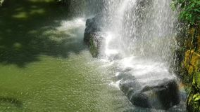 Waterfall landscape view in the rainforest. stock footage