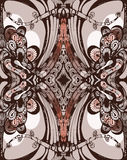 zoomorphic картины decorat безшовное vegetable Стоковые Изображения RF