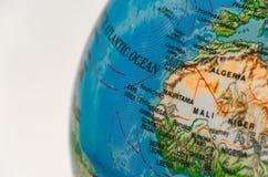 Zoomsikt av världskartan Royaltyfria Bilder