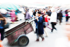 Zoomu obrazek arabscy ludzie w Marrakesh Fotografia Royalty Free