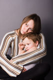 Zoon en moeder Royalty-vrije Stock Foto