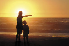 Zoon en vader Royalty-vrije Stock Foto's