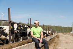 Zootecnia di industria, di azienda agricola, del gente e di agricoltura Fotografie Stock Libere da Diritti