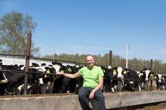 Zootecnia di industria, di azienda agricola, del gente e di agricoltura Fotografia Stock Libera da Diritti