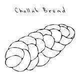 Zopf or Challah Bread. Jewish or Swiss, Austrian or Bavarian Bakery. Realistic Hand Drawn Illustration. Savoyar Doodle vector illustration