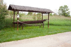Zoppola, antique Fishing boat Royalty Free Stock Photo