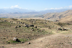 Zorats Karer Θέση μεγαλιθικών μνημείων προϊστορίας _ στοκ φωτογραφία με δικαίωμα ελεύθερης χρήσης