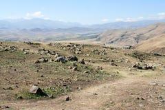 Zorats Karer De plaats van het voorgeschiedenismegaliet armenië Royalty-vrije Stock Fotografie