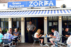Zorba the Greek restaurant located in the heart of  in Hoorn, Holland Stock Image