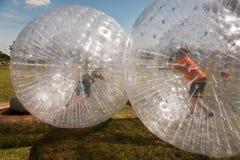 потеха ребенка шарика имеет серию zorbing Стоковое Фото