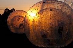 Zorbing-Ball Lizenzfreies Stockfoto