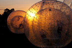 Zorbing Ball. On a Playground Royalty Free Stock Photo