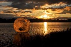 Zorbing Sonnenuntergang Stockfotos
