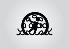 Zorbing symbol Arkivbild