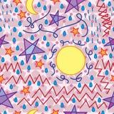 Zorg abstract naadloos patroon stock illustratie