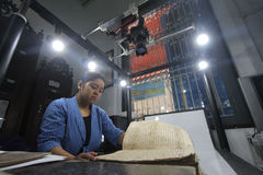 Zorg van Historisch Manuscriptenkoninkrijk van Surakarta Royalty-vrije Stock Foto's
