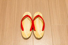 Zori sandal on floor. Stock Photos