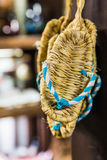 Zori - Traditional  Japanese sandals made of rice straw. Stock Image