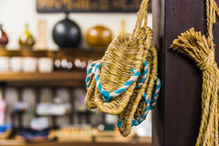 Zori - Traditional  Japanese sandals made of rice straw. Royalty Free Stock Photo