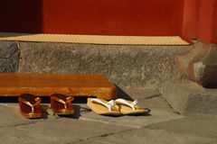 Zori - traditional Japanese shoes. Royalty Free Stock Photography