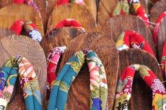 Zori van de het schoeiselpantoffel van Japan traditionele Stock Afbeeldingen