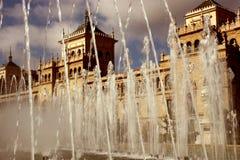 Zorilla de la plaza en ciudad del español de Valladolid fotos de archivo