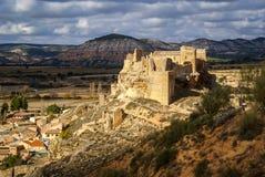 Zorita slott, Castilla la Mancha, Spanien Arkivbild