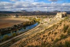 Zorita slott, Castilla la Mancha, Spanien Royaltyfri Fotografi