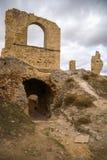 Zorita slott, Castilla la Mancha, Spanien Royaltyfri Bild