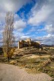 Zorita slott, Castilla la Mancha, Spanien Arkivfoto