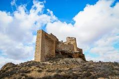 Zorita slott, Castilla la Mancha, Spanien Arkivfoton