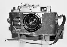 Zorki uitstekende camera in zwart-wit stock afbeeldingen