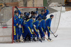 Zorkij team waits a conor shot Royalty Free Stock Photography