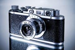 Zorkiy Camera. A retro camera Zorkiy on glassy surface Stock Photo