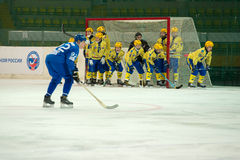 Zorky Krasnogorsk的未认出的球员 免版税库存图片