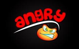 Zorn-Hintergrund lizenzfreie abbildung