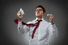 Zorn mit Geld Stockfotos