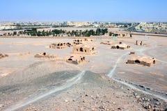 Zoroastrian buildings and cemetery Stock Image