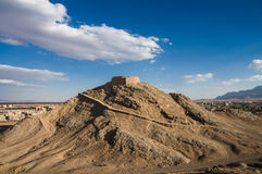 Zoroastrian Tower of Silence in Yazd, Iran Stock Images