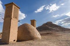 Zoroastrian wierza cisza w Yazd, Iran zdjęcie royalty free