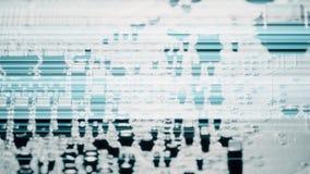 A zorra macro da placa de circuito impresso disparou vídeos de arquivo