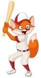 Zorro del béisbol Imágenes de archivo libres de regalías
